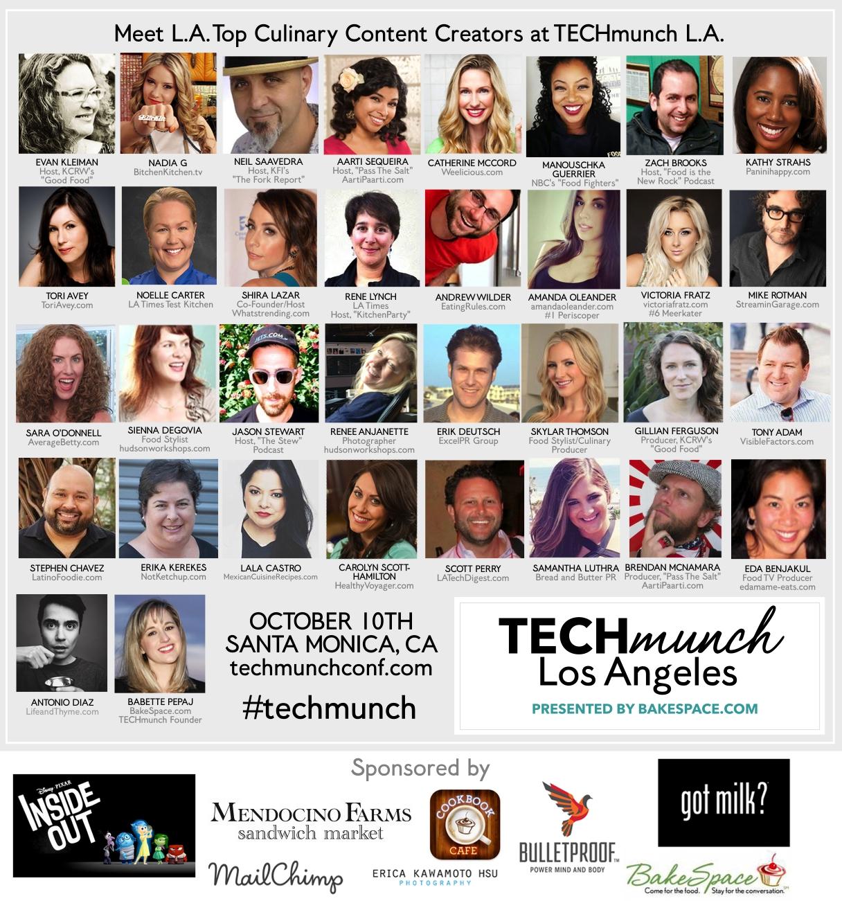 Techmunch LA Speakers