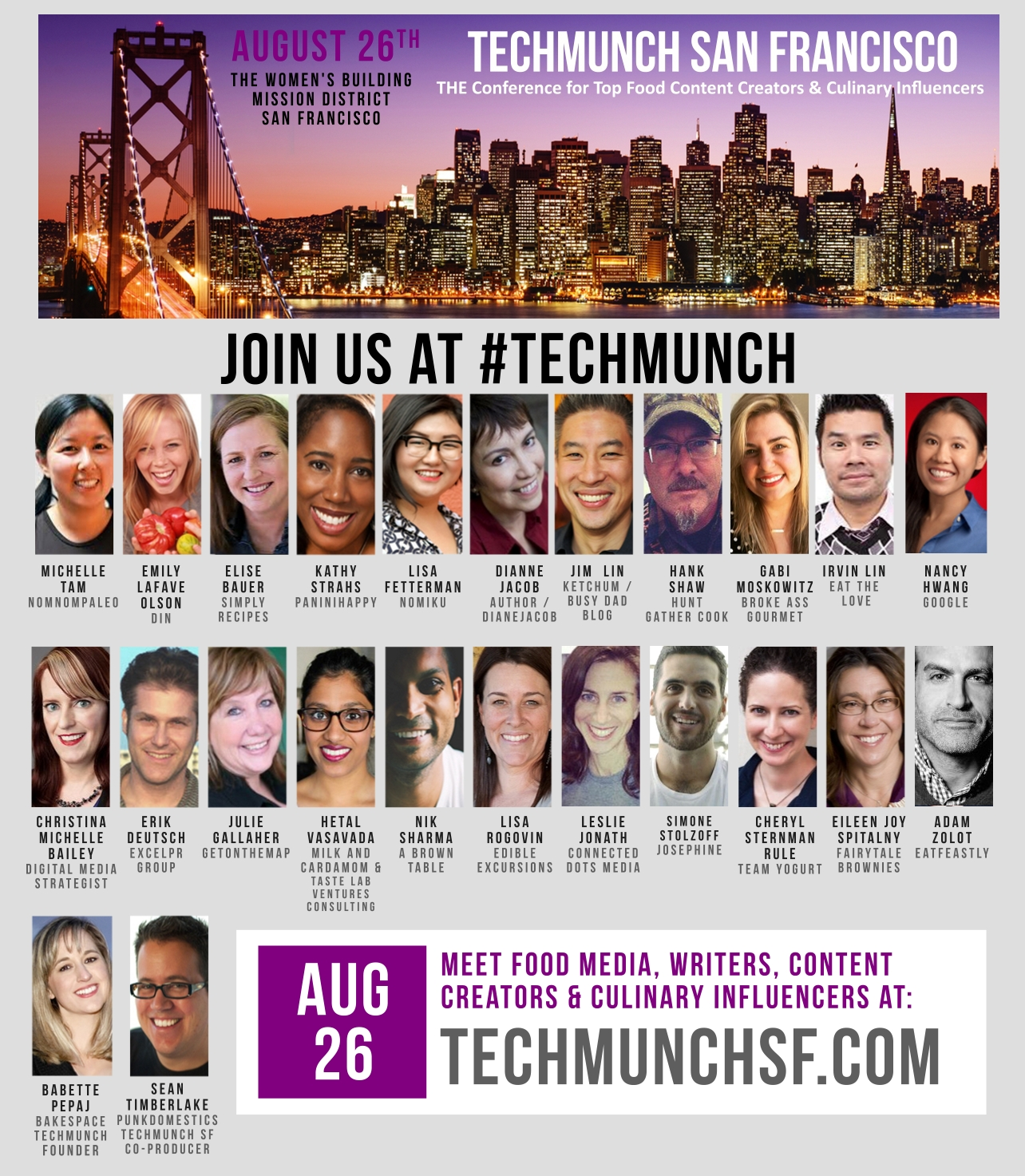 TECHMUNCH SF banner al all speakers