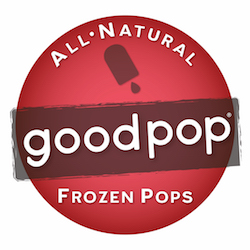 GoodPop logo with R